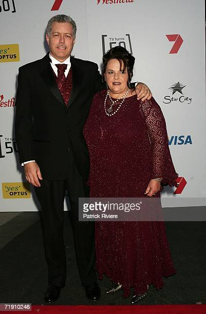 Lindy Chamberlain-Creighton and her husband Rick Creighton attend Channel Seven's TV Turns 50, The Event That Stopped a Nation, at Star City on...
