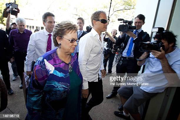 Lindy Chamberlain-Creighton arrives at Darwin Magistrates court on June 12, 2012 in Darwin, Australia. Mrs Chamberlain-Creighton was appearing at the...
