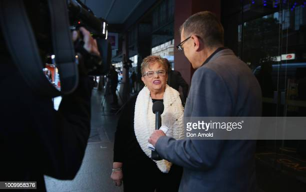 Lindy Chamberlain-Creighton attends the memorial service for Harry M. Miller at Capitol Theatre on August 3, 2018 in Sydney, Australia.