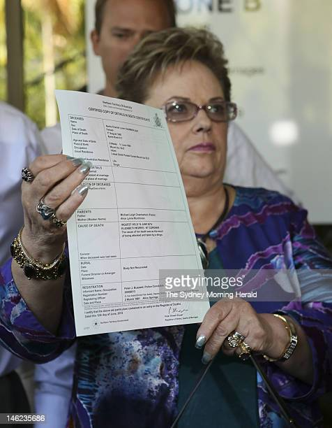 Lindy Chamberlain-Creighton leaves Darwin Magistrates court on June 12, 2012 in Darwin, Australia. Mrs Chamberlain-Creighton was appearing at the...