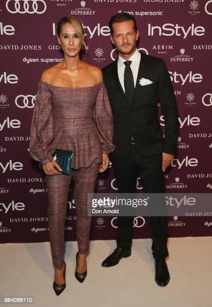 Lindy Klim and Adam Ellis arrive ahead of the Women of Style Awards at The Star on May 17 2017 in Sydney Australia