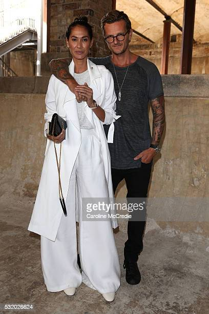 Lindy Klim and Adam Ellis attend the Kitx show at MercedesBenz Fashion Week Resort 17 Collections at Paddington Reservoir on May 18 2016 in Sydney...