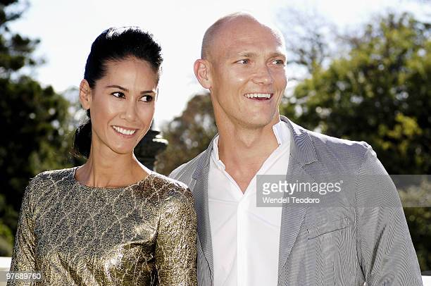Lindy Klim and Michael Klim attend the Opening Night Party for the 2010 L'Oreal Melbourne Fashion Festival at Government House on March 14 2010 in...