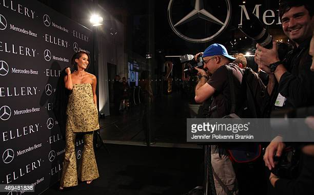 Lindy Klim attends the MercedesBenz Presents Ellery show at MercedesBenz Fashion Week Australia 2015 at Carriageworks on April 12 2015 in Sydney...