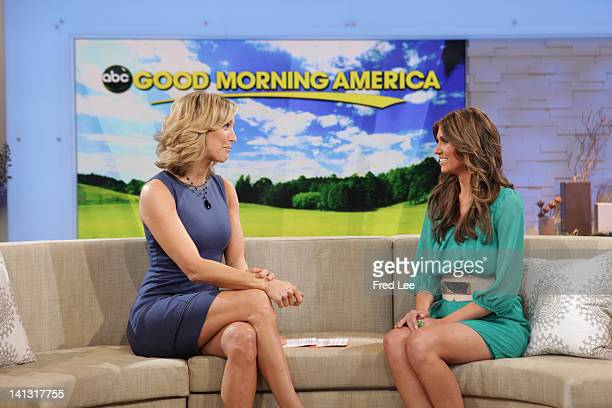 AMERICA Lindzi Cox runnerup on Walt Disney Television via Getty Images's The Bachelor appears on Good Morning America 3/13/12 airing on the Walt...