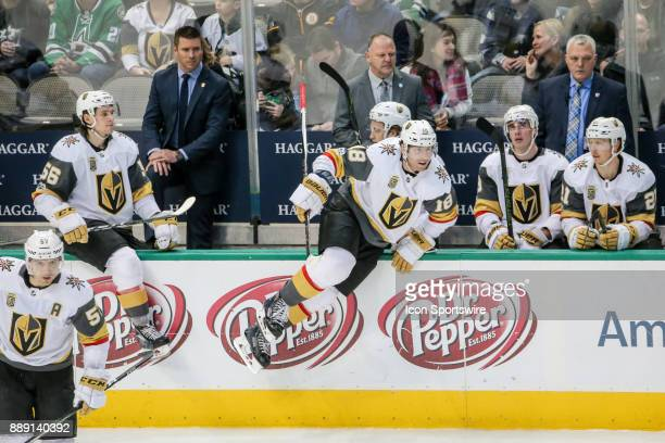 Line change during the game between the Dallas Stars and Vegas Golden Knights on December 9 2017 at the American Airlines Center in Dallas TX