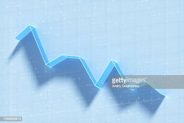 line chart - decline stock pictures, royalty-free photos & images