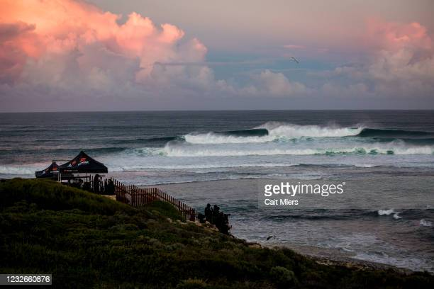 Line during Round 1 of the Boost Mobile Margaret River Pro presented by Corona on May 2, 2021 in Margaret River, WA, Australia.