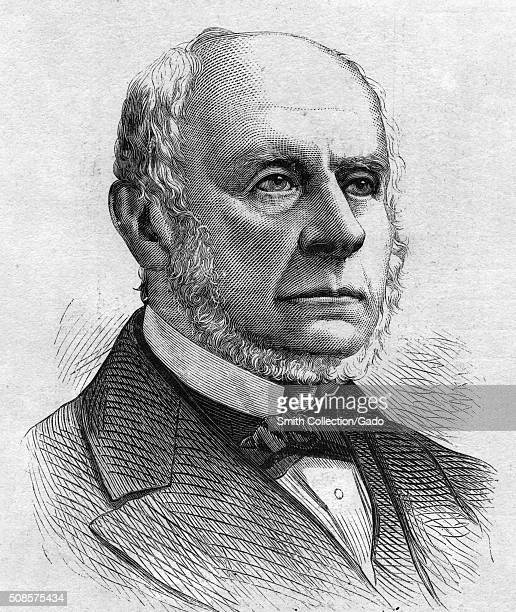 A line engraving from a portrait of Charles Francis Adams son of President John Quincy Adams 1872 From the New York Public Library