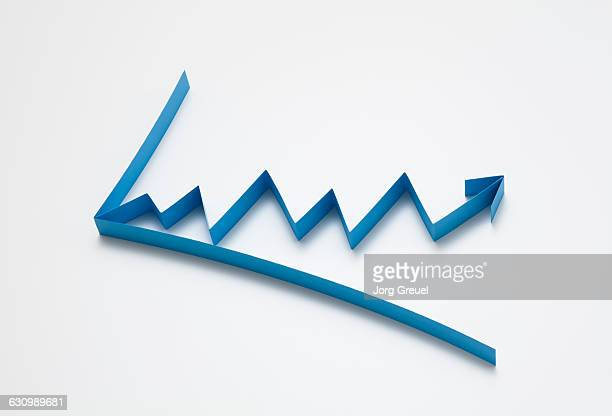 Line graph made from paper