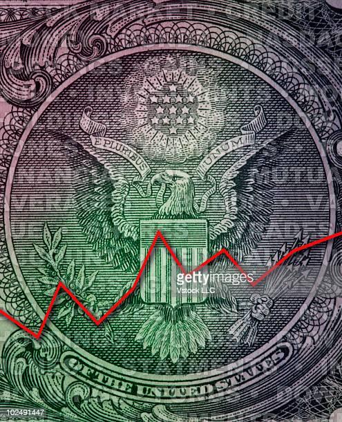 Line graph on money
