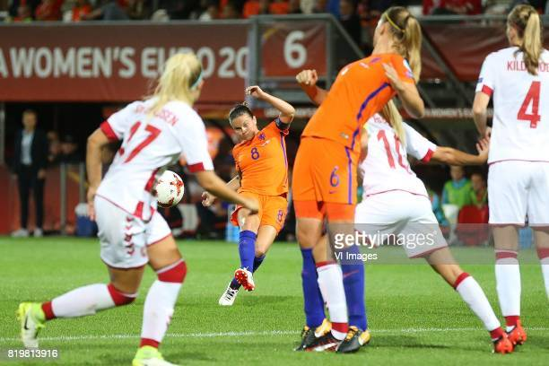 Line Jensen of Denmark women Sherida Spitse of Holland Women Anouk Dekker of Holland Women Pernille Harder of Denmark women Maja Kildemoes of Denmark...