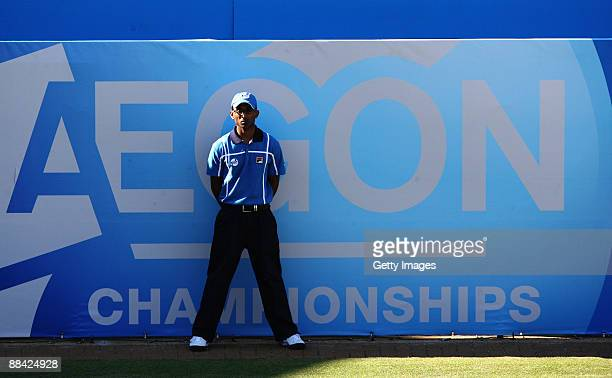 Line judge during Day 3 of the the AEGON Championship at Queens Club on June 11, 2009 in London, England.