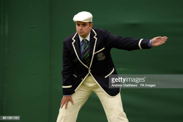 Line judge in action on Day One at the All England Lawn Tennis and Croquet Club