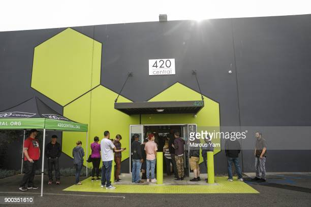 A line of at least 34 dozen customers extend out through the front door at 420 Central in Santa Ana Calif on Jan 1 2018 The state has issued dozens...