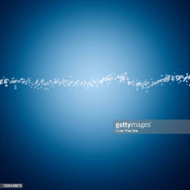 line of bubbles forming a speech bubble - atomic imagery stock pictures, royalty-free photos & images