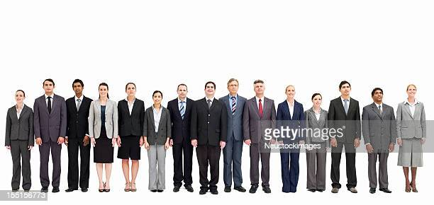 Line of Businesspeople - Isolated