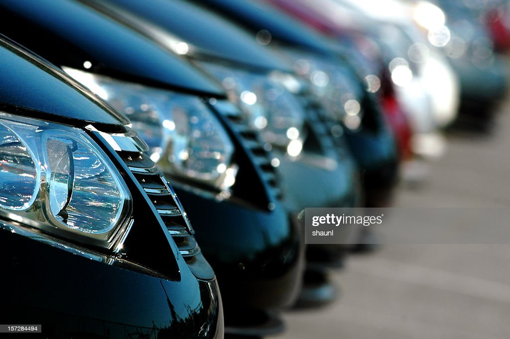 Line of Cars : Stock Photo