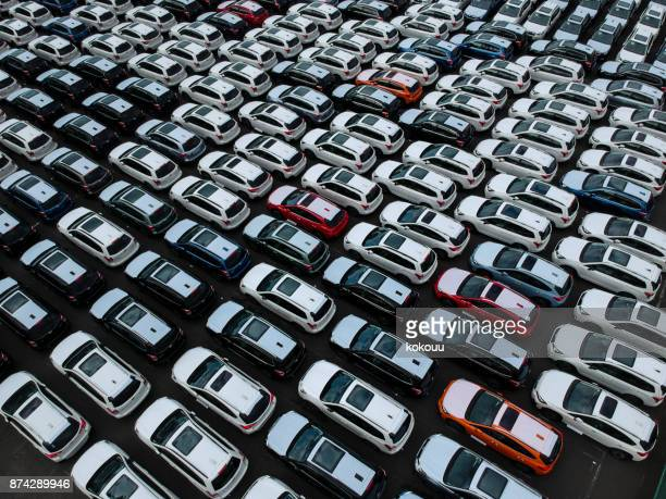 a line of cars. - car dealership stock pictures, royalty-free photos & images