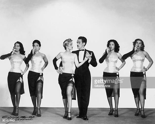A line of Cuban dancers circa 1950