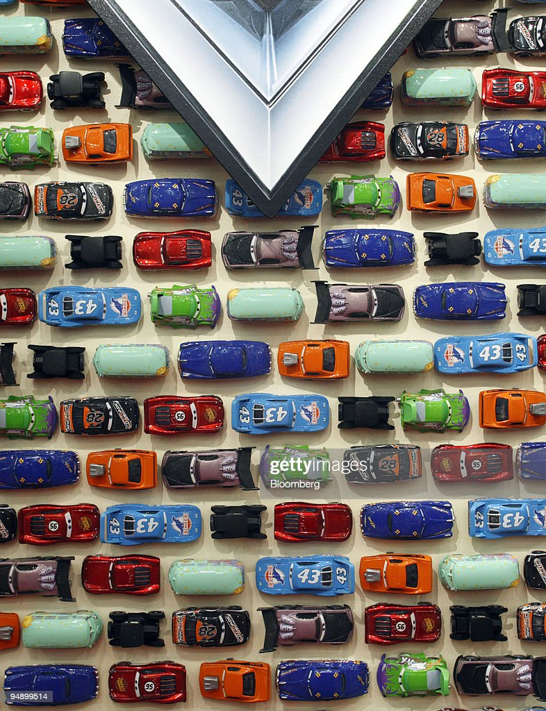 A Line Of Die Cast Vehicles From The Animated Movie Cars Is