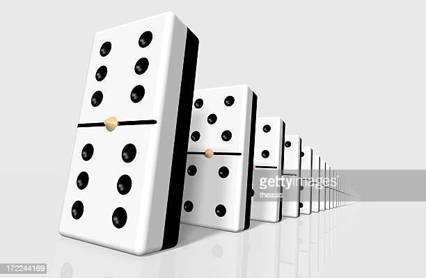linie von domino - theasis stock-fotos und bilder