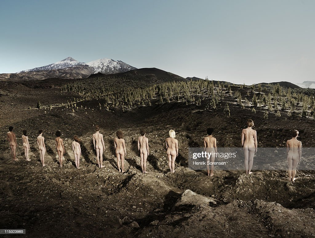 Line Of Young Naked People In Vulcanic Area Photo  Getty -3132