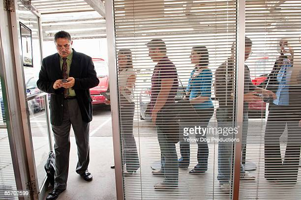 Line Outside Unemployment Office