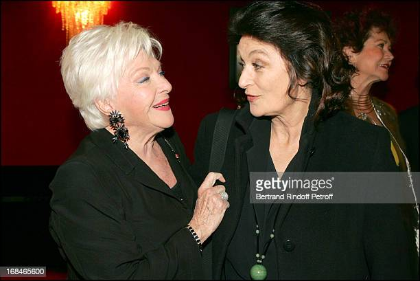 Line Renaud and Anouk Aimee at Dalida TV Film Tribute To The Singer