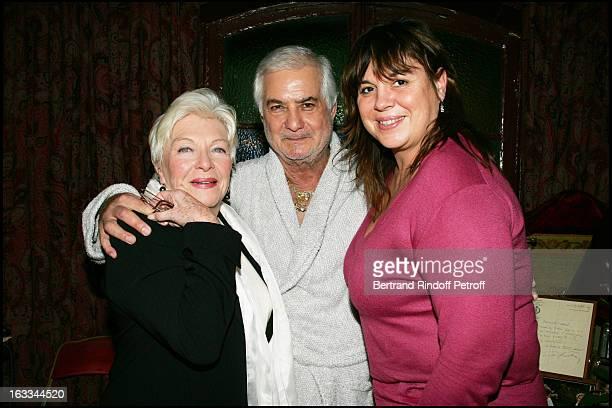 Line Renaud and Michelle Bernier at Celebration Of The Hit Show J' Ai Oublie De Vous Dire Featuring Jean Claude Brialy At The Theatre Des Bouffes...