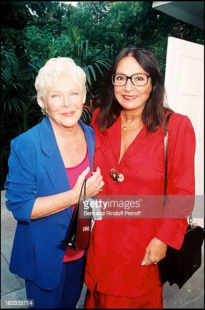 Line Renaud and Nana Mouskouri at Line Renaud's 70th Birthday Celebration