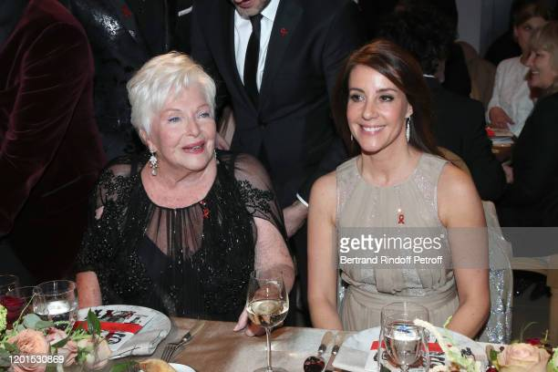 Line Renaud and Princess Marie of Danemark attend the Sidaction Gala Dinner 2020 at Pavillon Cambon on January 23 2020 in Paris France