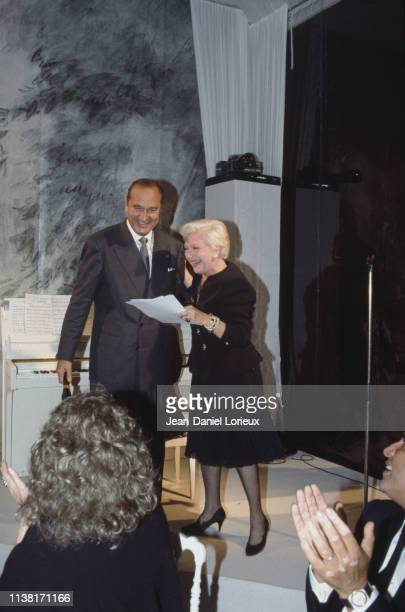 Line Renaud at the wedding of Claude Chirac daughter of the mayor of Paris and former Prime Minister Jacques Chirac with the political scientist...