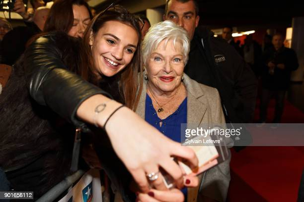 Line Renaud attends La Ch'tite Famille premiere at Kinepolis on January 5 2018 in Lille France