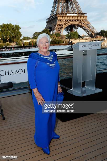Line Renaud attends Line Renaud's 90th Anniversary on July 2 2018 in Paris France