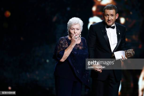 Line Renaud gives the Public audience Award to Dany Boon for the movie Raide Dingue during the Cesar Film Awards 2018 at Salle Pleyel on March 2 2018...