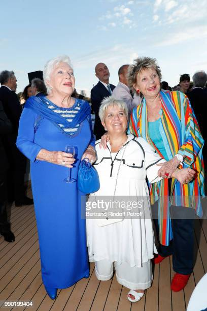 Line Renaud Mimie Mathy and Annie Cordy attend Line Renaud's 90th Anniversary on July 2 2018 in Paris France