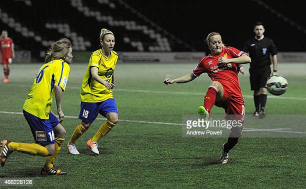 Line Smorsgard of Liverpool during a Pre Season friendly match between Liverpool Ladies and Doncaster Rovers Ladies at Select Security Stadium on...