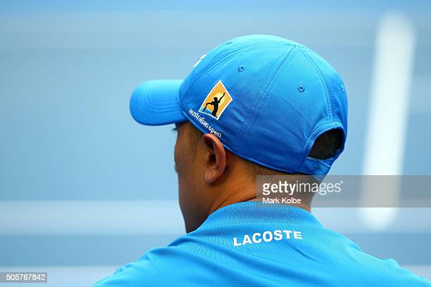 A line umpire looks on during day three of the 2016 Australian Open at Melbourne Park on January 20 2016 in Melbourne Australia