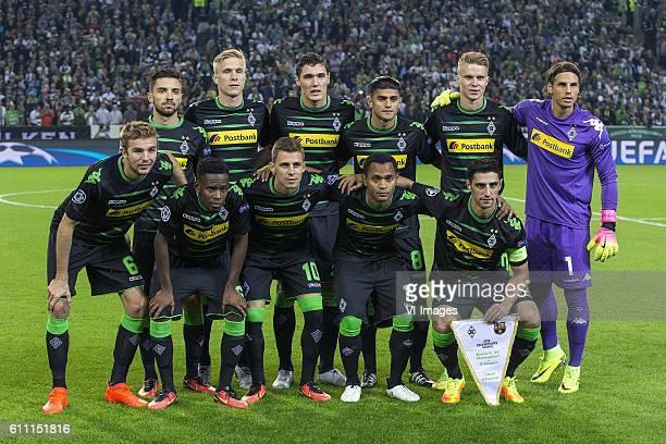 Line up Borussia Monchen Gladbach top row Julian Korb of Borussia Monchengladbach bmbm17 Andreas Christensen of Borussia Monchengladbach Mahmoud...