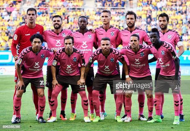 Line up CD Tenerife with Gaku Shibasaki of CD Tenerife during La Liga Segunda Division between Cadiz CF and CD Tenerife at Estacio Ramon de Carranza...