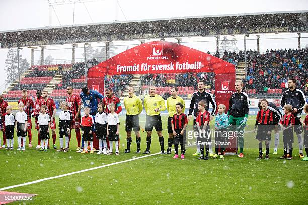 Line up during the Allsvenskan match between Ostersunds FK and Orebro SK at Jamtkraft Arena on April 27 2016 in Ostersund Sweden