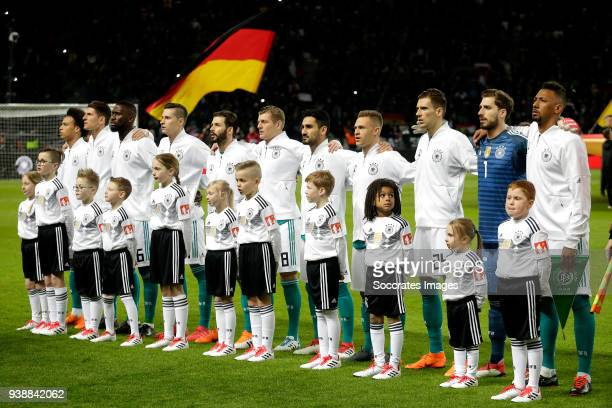 line up Germany during the International Friendly match between Germany v Brazil at the Olympiastadium on March 27 2018 in Berlin Germany