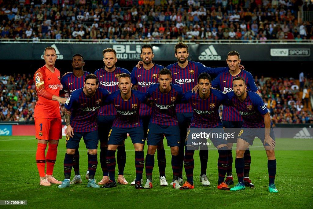Valencia v FC Barcelona - La Liga : News Photo