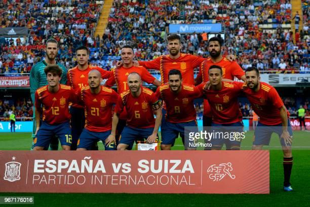 Line up of Spain David De GeaAzpilicuetaIago Aspas Gerard Pique Diego Costa Alvaro Odriozola David Silva Andres Iniesta Koke Resurreccion Thiago...