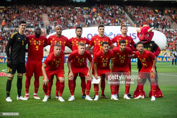 Line up team during a friendly game between Belgium and Portugal as part of preparations for the 2018 FIFA World Cup in Russia on June 2 2018 in...