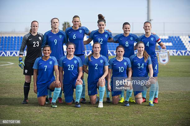 Line up The Netherlands during the preseason friendly match between national women's Russia vs The Netherlands in Pinatar Arena San Pedro del Pinatar...