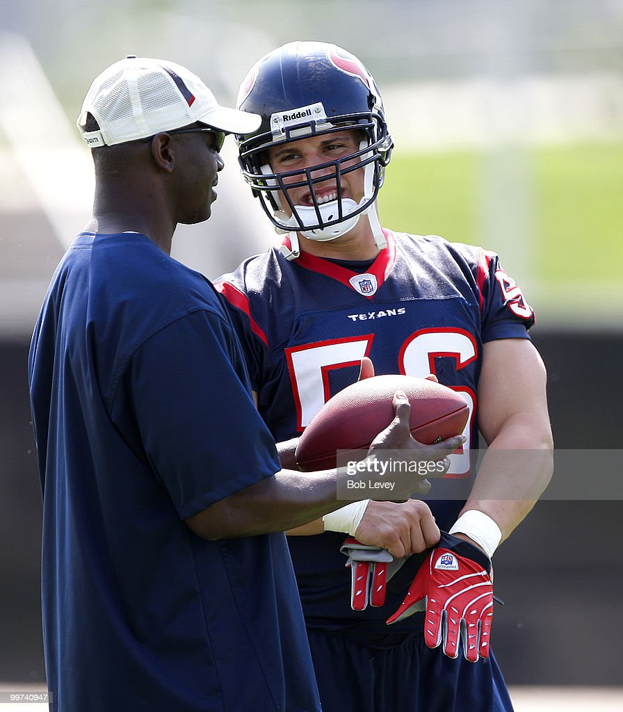 Linebacker Brian Cushing #56 arrives for the first day of OTA's at Reliant Park on May 17, 2010 in Houston, Texas. The Houston linebacker took part in the Texans' first offseason team practice after spending the last several days dealing with the fallout from a four-game suspension for testing positive for a performance-enhancing drug.