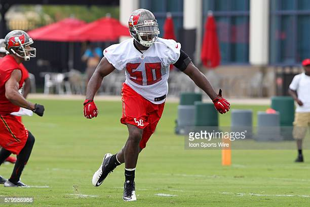 Linebacker Bruce Carter during the Buccaneers OTA at One Buccaneer Place in Tampa Florida