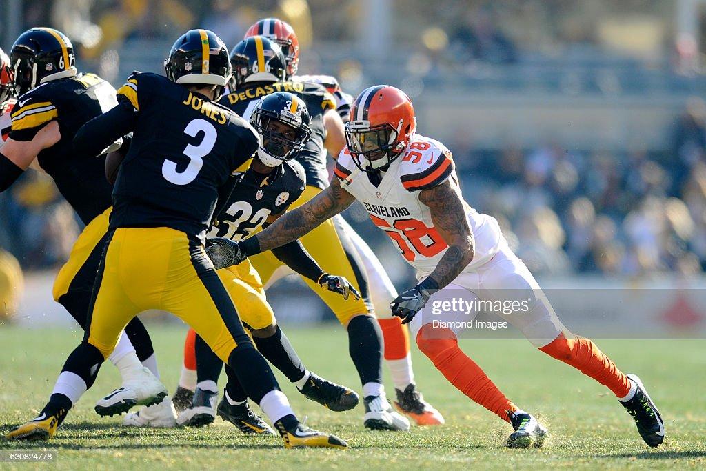a7962d661 ... Linebacker Christian Kirksey 58 of the Cleveland Browns sacks  quarterback Landry Jones 3 of .
